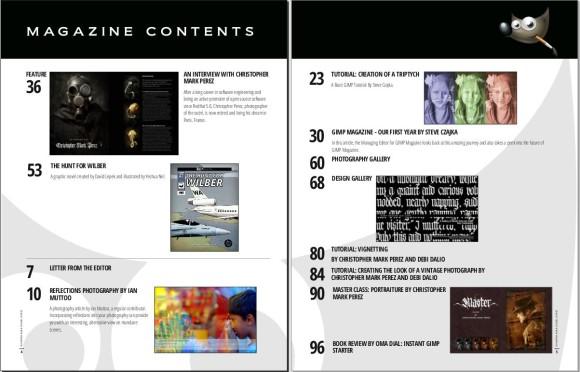 Gimp Magazine 4 - sadržaj