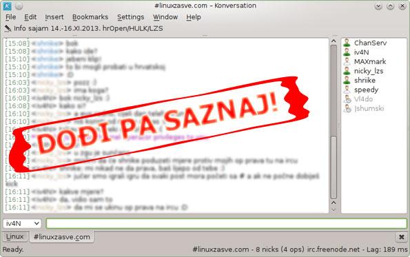 #linuxzasve.com IRC kanal
