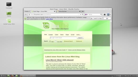 LMDE Live - Pokrenut Firefox