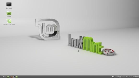 Linux Mint Debian Edition Live DVD - Izgled radne površine