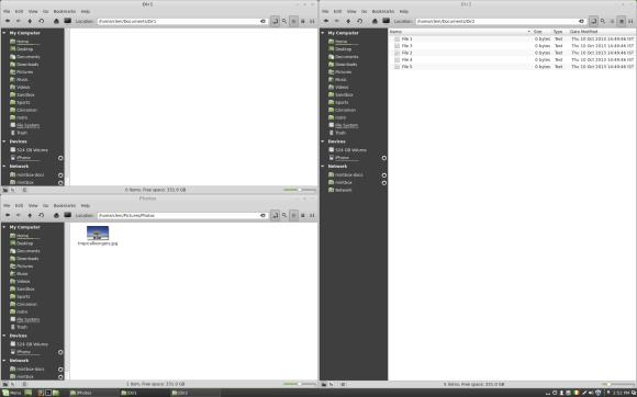 Linux Mint 16 - Cinnamon-tiling (izvor Linux Mint Blog)