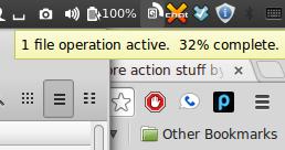 Prikaz kopiranja ili premještanja datoteka u traci sustava (izvor: Linux Mint Blog)