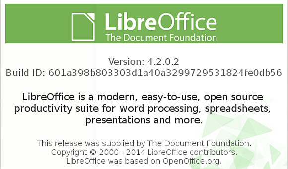 LibreOffice 4.2.0.2