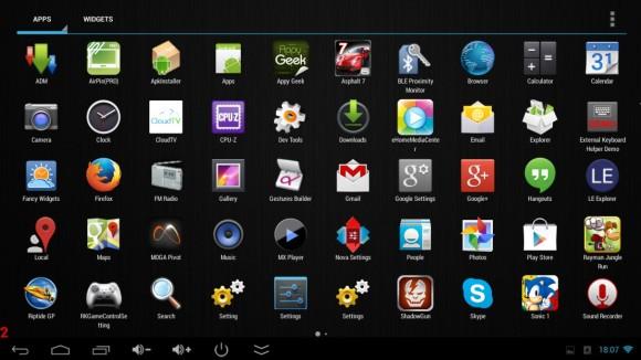 Popis instaliranih aplikacija