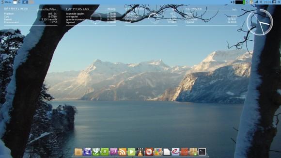 Sparki - uređen desktop