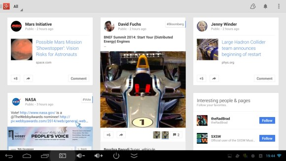 Google+ aplikacija