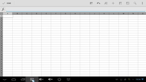 QuickOffice - tablica