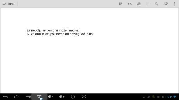 QuickShot Office - pisanje teksta