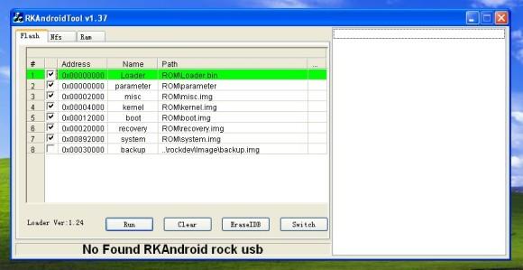 RK AndroidTool - alat pomoću kojeg možete instalirati novi ROM na vaš Minix
