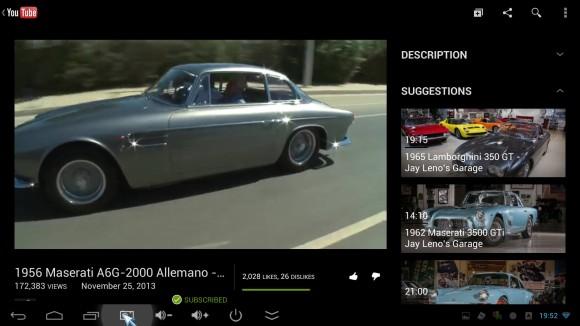 Youtube aplikacija - gledanje filmića
