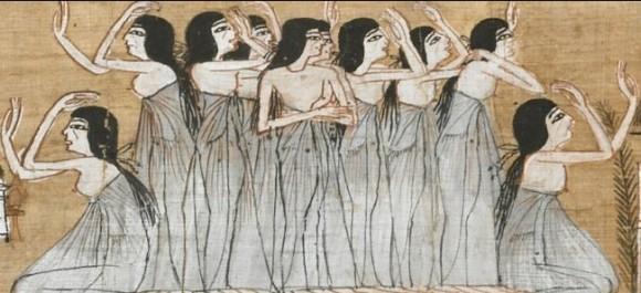 Ovako se i u starom Egiptu naricalo za distrama. Izvor: http://www.egypt.cedar-view.co.uk/images/mourners.gif
