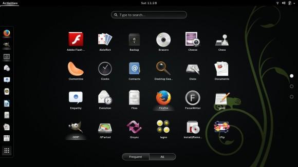 GNOME Shell prikaz instaliranih programa