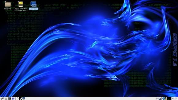 KNOPPIX 7.4.0 desktop