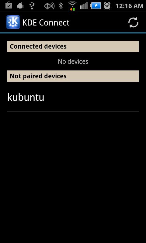 KDE Connect - pokretanje aplikacije Izvor: http://xmodulo.com/integrate-android-kde-linux-desktop.html
