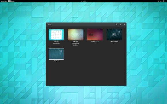 GNOME 3.14 -Boxes