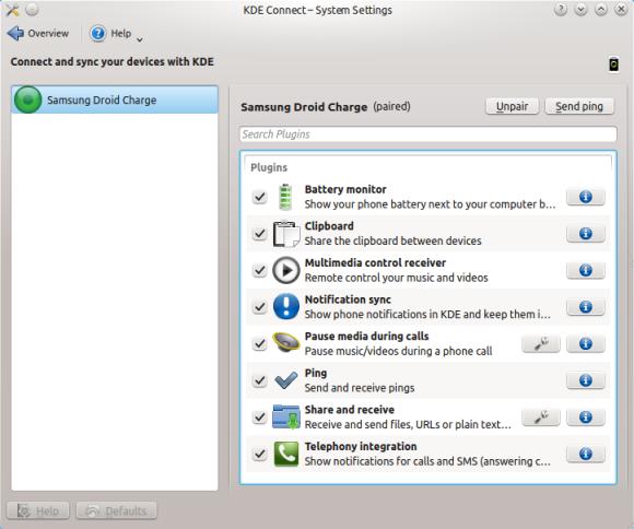 KDE Connect - podešavanje Izvor: http://xmodulo.com/integrate-android-kde-linux-desktop.html