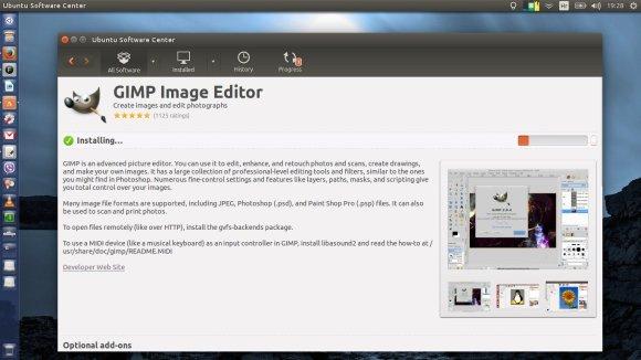 Instalacija Gimpa preko Centra softvera