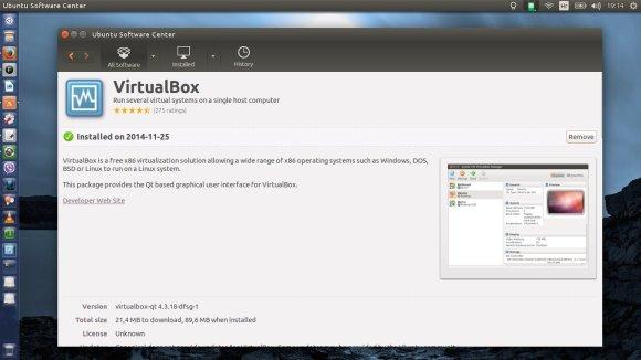 Uspješno instaliran Virtualbox