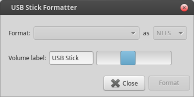 Mint 17.1 - USB Stick Formatter