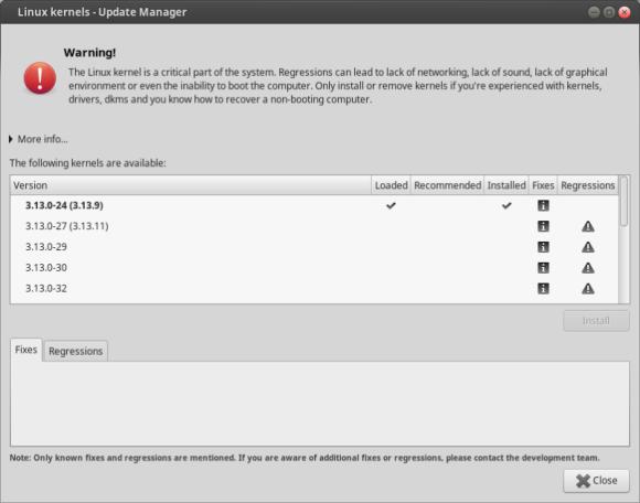 Mint 17.1 - Linux kernels