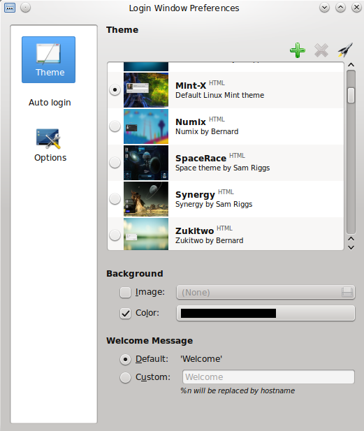 Mint 17.1 KDE - Login Window Izvor: http://www.linuxmint.com/rel_rebecca_kde_whatsnew.php