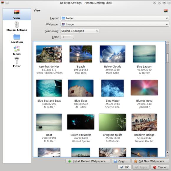 Mint 17.1 KDE - Desktop Settings Izvor: http://www.linuxmint.com/rel_rebecca_kde_whatsnew.php