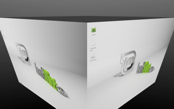 Mint 17.1 Xfce - Compiz i rotirajuća kocka Izvor: http://www.linuxmint.com/rel_rebecca_xfce_whatsnew.php