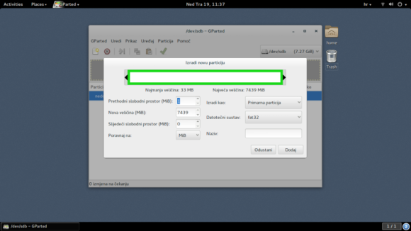 Kreiranje FAT32 sustava datoteka