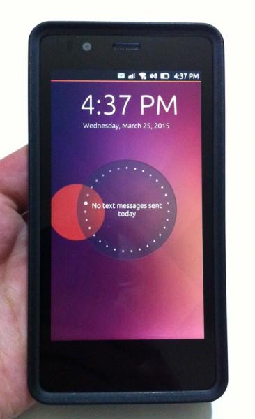 BQ Aquaris E4.5 Ubuntu Edition - prednja strana