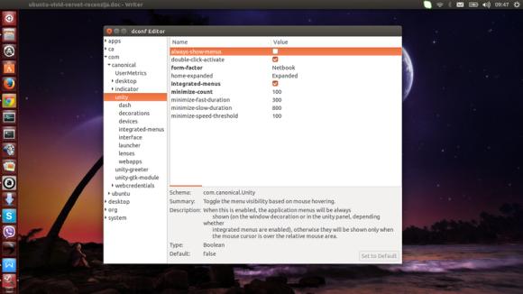 Unity 7 - dconf editor