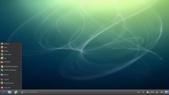 Trisquel desktop - izbornik aplikacija