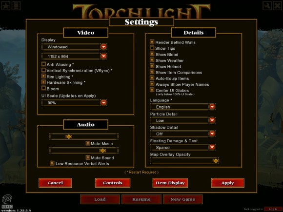 Torchlight 2 - postavke igre