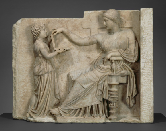 Grave Naiskos of an Enthroned Woman with an Attendant Izvor: The J. Paul Getty Museum