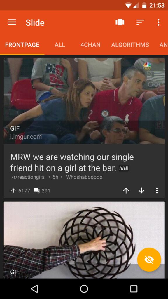 Slide za Reddit